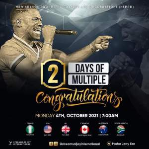 Live NSPPD Jerry Eze Prophetic Prayers 4 October 2021 - Multiple Congrats