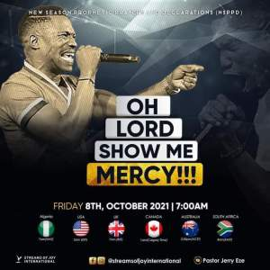 Jerry Eze 7am NSPPD 8 October 2021 - Festival of Mercy