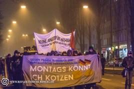 Demonstrationszug auf der Lindwurmstraße