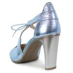 Pantofi Hispanitas Bleu Metalizat