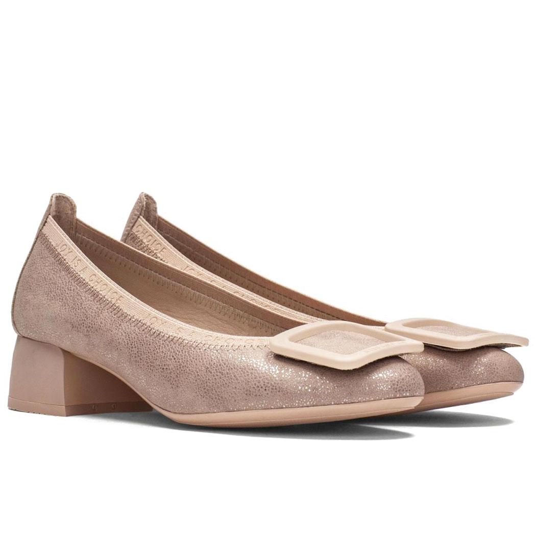 Pantofi Hispanitas Roz Sidefat