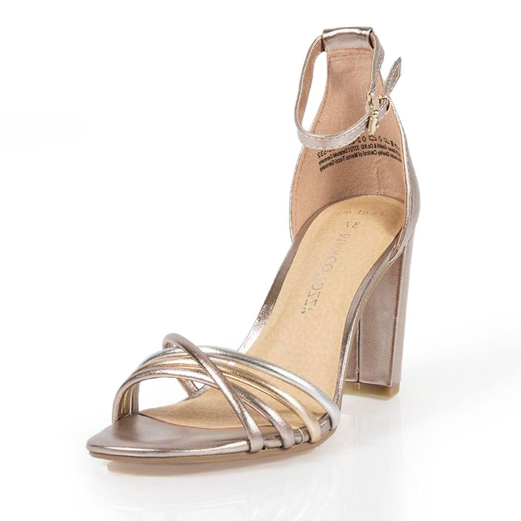 Sandale Marco Tozzi Roz Metalizat