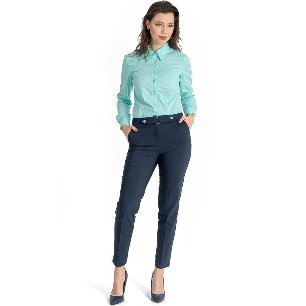 Pantaloni Hermosa Bleumarin