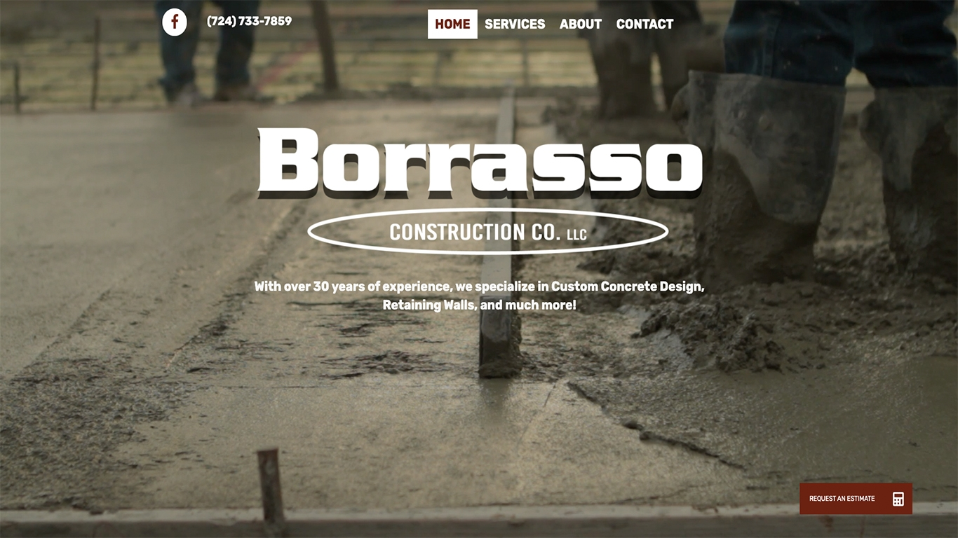 Borrasso Construction Reflex Website Design