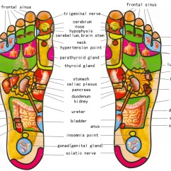 Foot Massage Therapy Diagram Refrigerator Components Diy Can Heal Your Body From Head To Toe