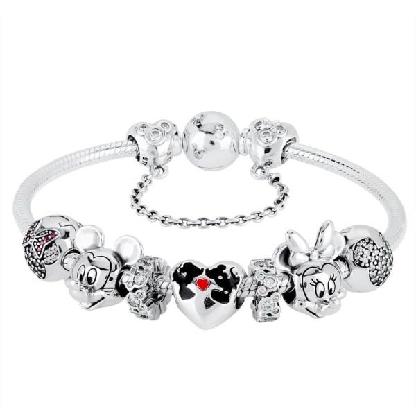 Mickey Disney Chamilia Bracelet With Beads Vtwctr