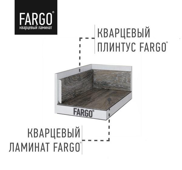 Кварцевый плинтус Fargo 366-1B Дуб Рустик Серый градиент
