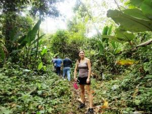 A teacher From Westerly Middle School Rhode Island in a tropical forest