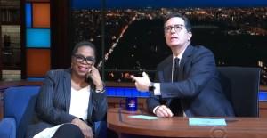 Oprah Mocks God on Stephen Colbert Show