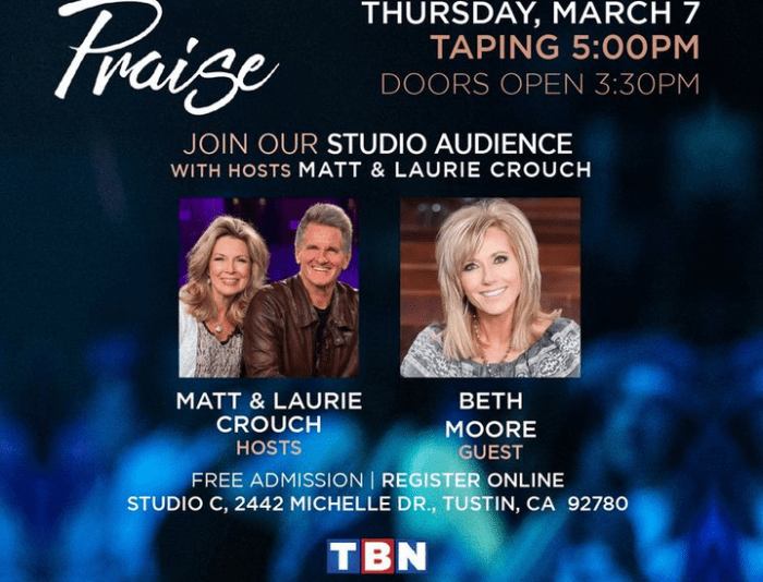 Beth Moore Joins Matt and Laurie Crouch on TBN