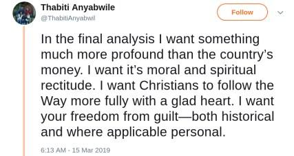 Thabiti Anyabwile Reparations white guilt freedom