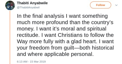 Thabiti Anyabwile Reparations white guilt freedom