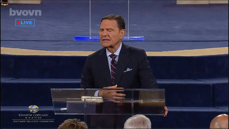 After Bragging About Private Jet, Kenneth Copeland Prays to