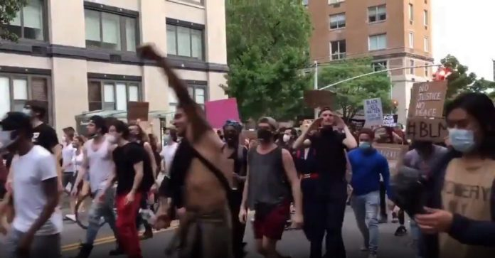 nincompoops chanting black trans lives matter