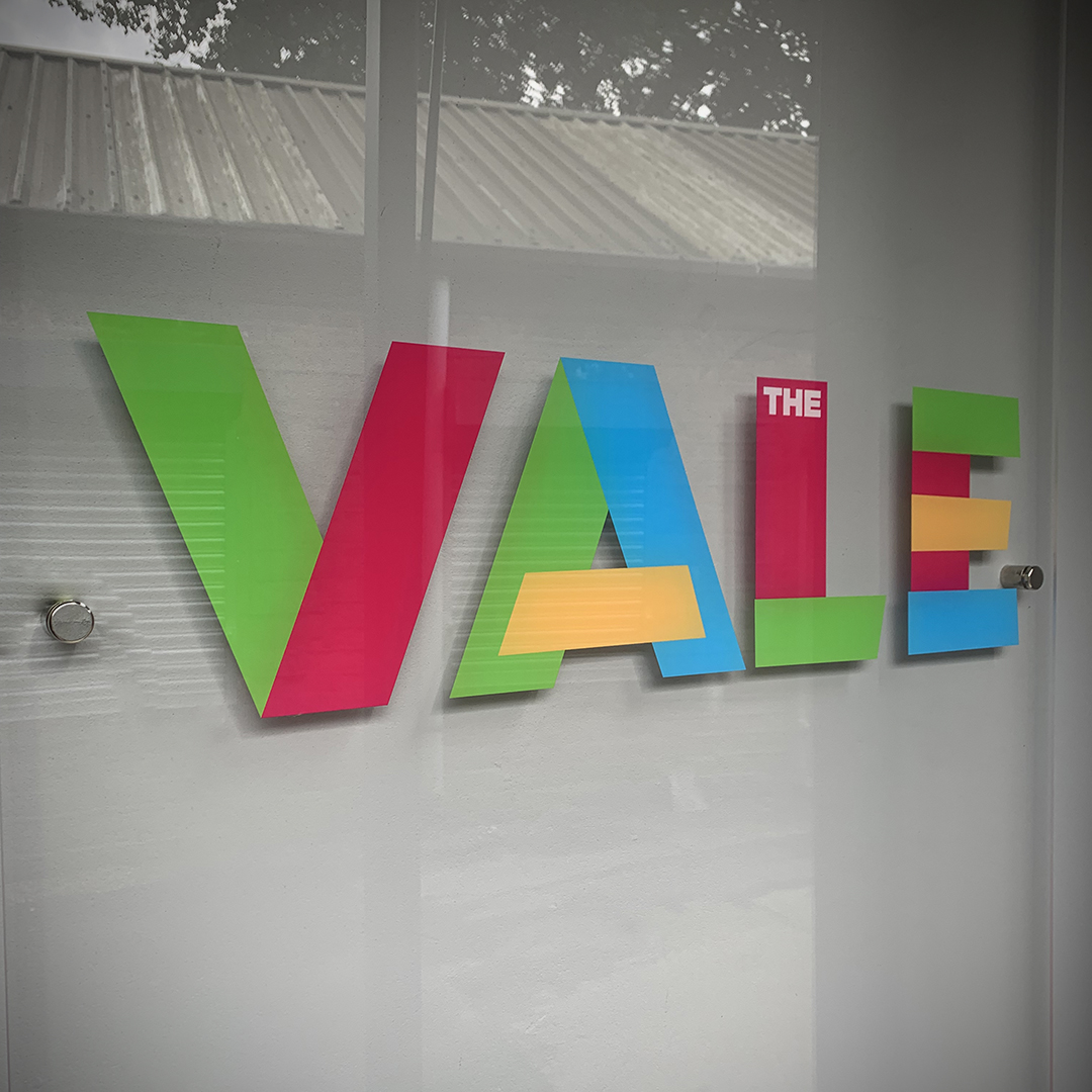 The Vale outdoor signage