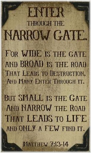 Matthew 7.13-14