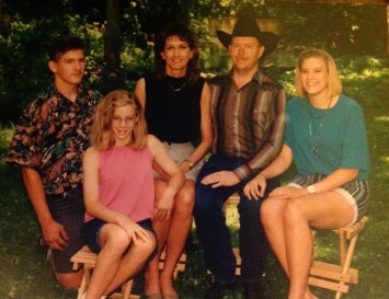 Part of my family during high school years - my brother, mom, stepdad, and stepsister.