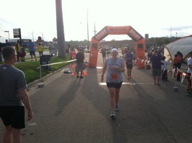 Me just crossing the finish line.