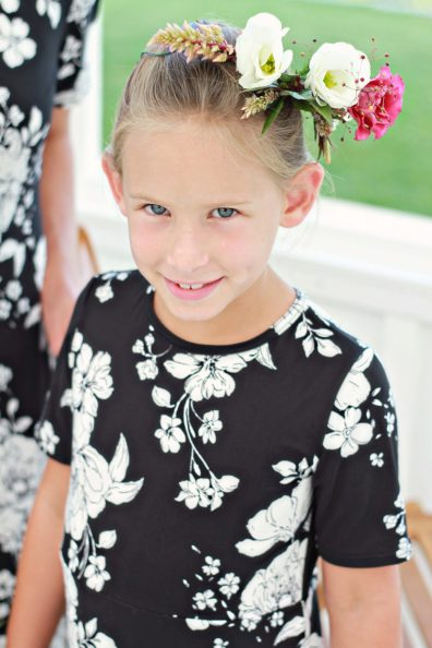 Mommy and Me Black Floral (3)