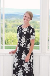 Sheandoah Dress Black Floral (1)