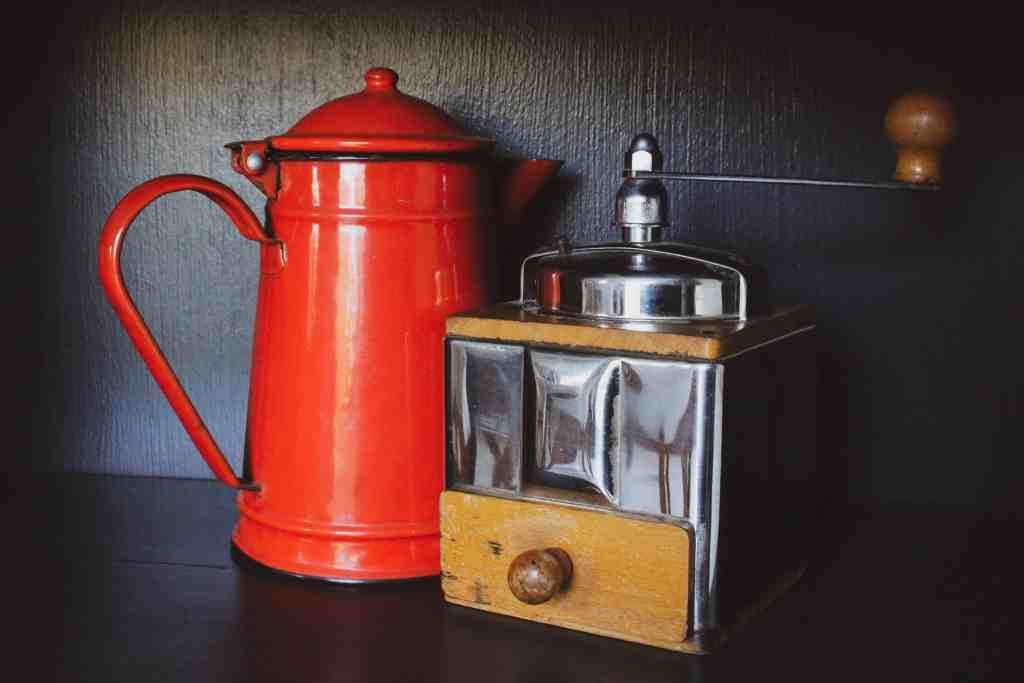 A Jug with Manual coffee Grinder