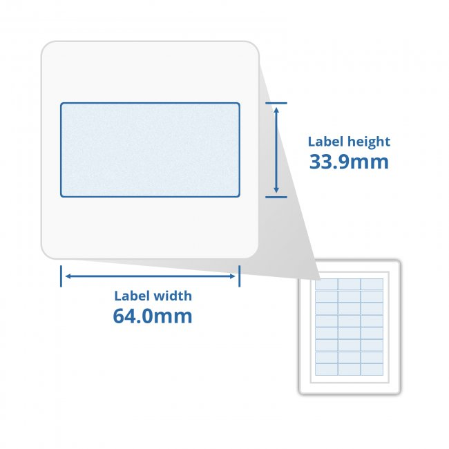 A4 Self Adhesive Address Labels 24 Labels Per Page (100)