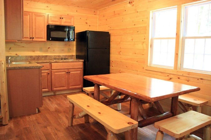 Cabins for rent in PA Cabins_Kitchen_Family_Getaway