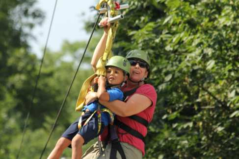 Ziplines_Challenge Adventure_Fall_Kids_Tandem