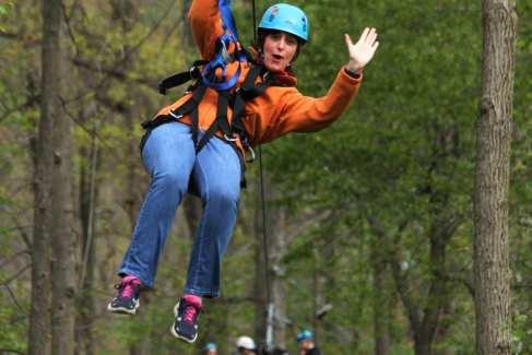 Zipline_Aerial Excursion_Spring_Woman