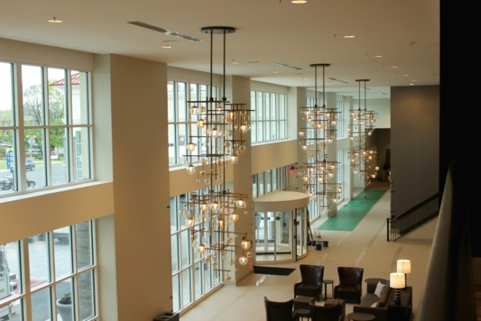 The Hotel Madison lobby has all the contemporary feels!