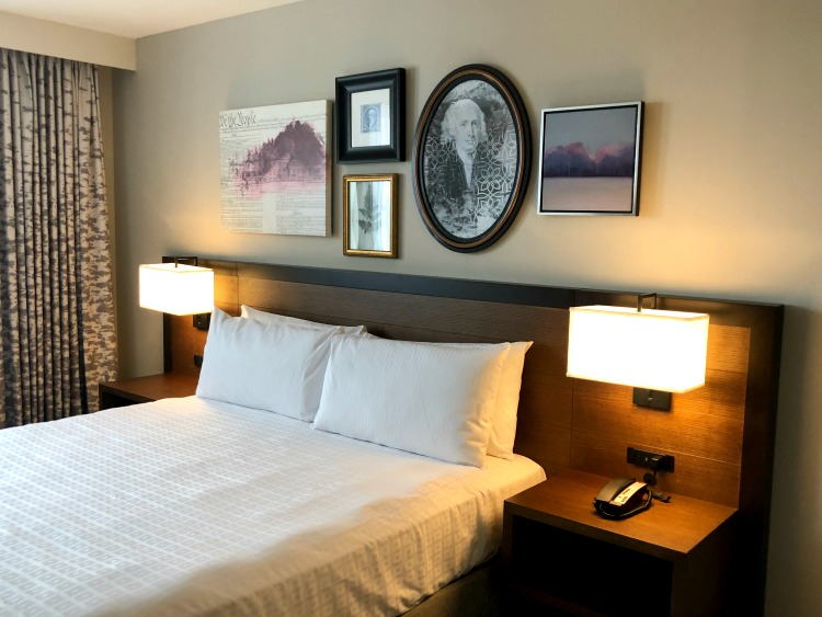 The rooms at Hotel Madison are contemporary and honor the history of both James Madison and the Shenandoah Valley of Virginia.