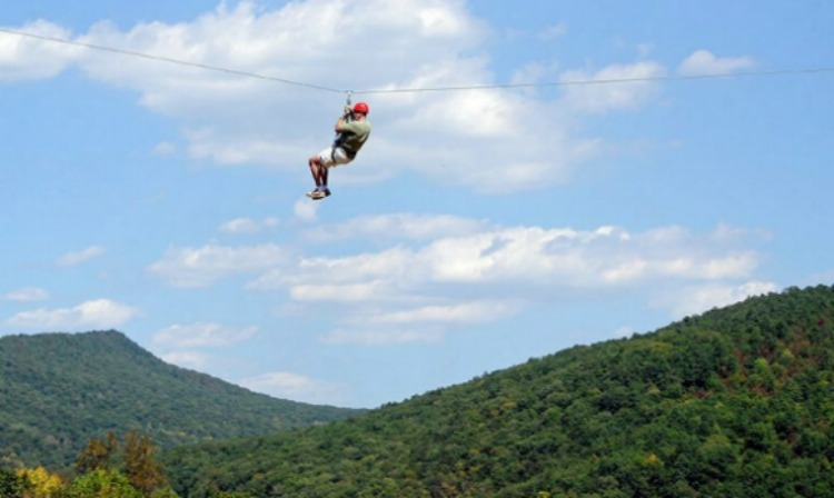 A great time to try zip lining at Massanutten Resort!
