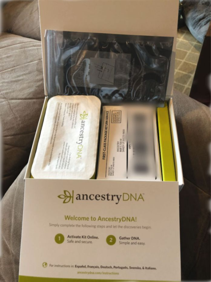 Here is the whole kit that arrived from Ancestry.com