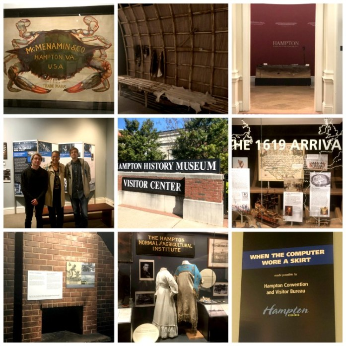 The Hampton History Museum covers the 400+ year history of the city! Photo credit: Dee Dean