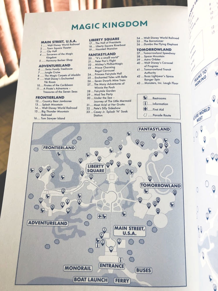 Simpler is better for me when it comes to WDW maps! Photo credit: Dee Dean