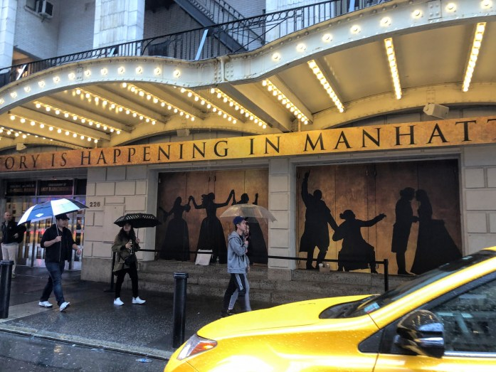 Driving past the theater home of Hamilton! Photo credit: Dee Dean