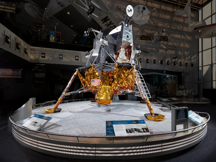 LM 2 was built for a second unmanned Earth-orbit test flight. Because the test flight of LM 1, named Apollo 5, was so successful, a second mission was deemed unnecessary. Photo credit: Smithsonian