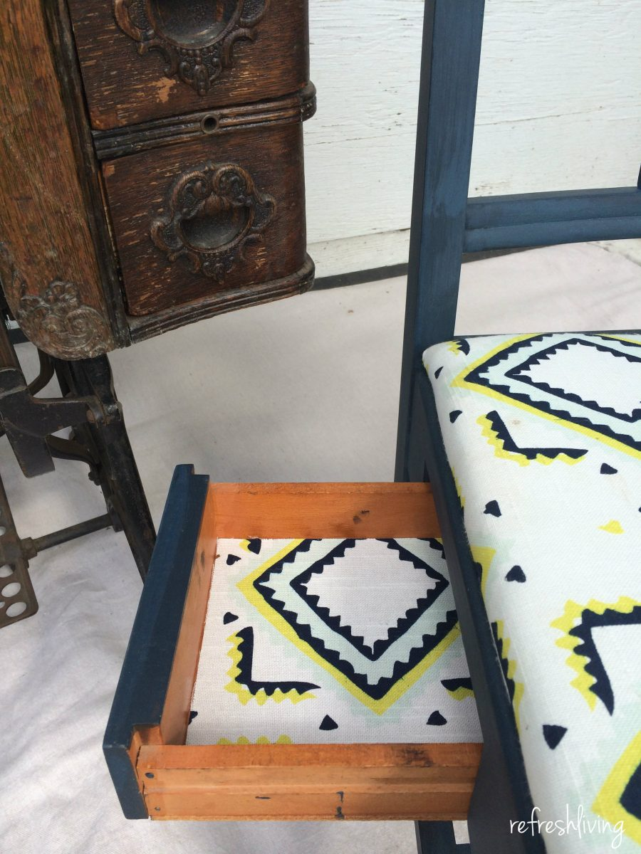 antique sewing chair desk height vintage gets a facelift refresh living painted