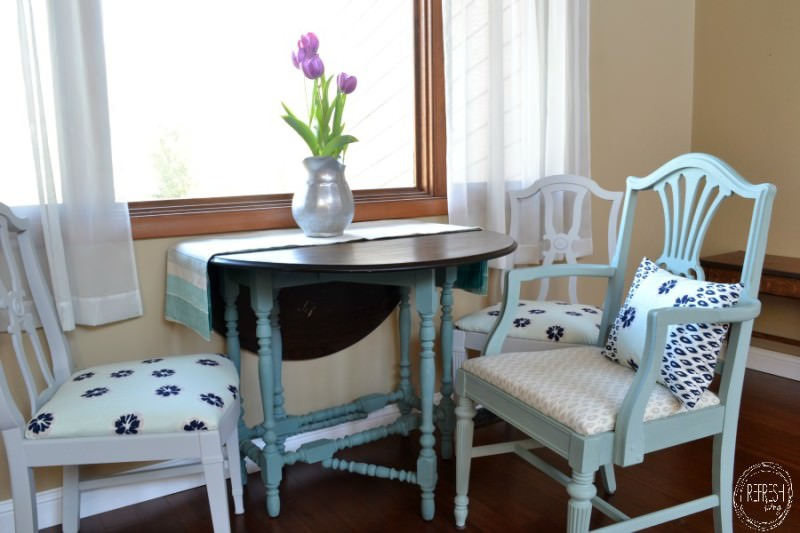 reupholster dining chairs trendy occasional painted reupholstered mix match challenge refinished in blue gray turquoise