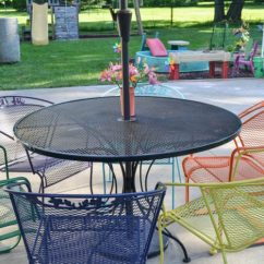 Metal Patio Chair Wedding Covers Hire West Midlands How To Paint Lawn Furniture Refresh Living I Love The Multi Colored Chairs It S Amazing An Old Set