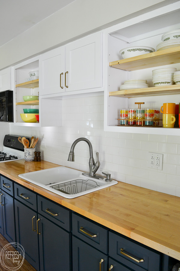 remodel kitchen on a budget by replacing the doors and