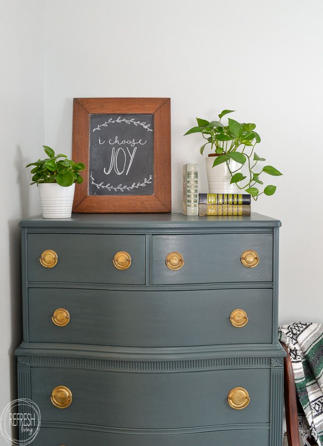painted vintage dresser with