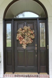 How to Stain Your Front Door | Refresh Restyle