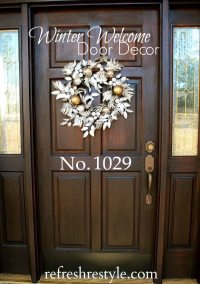 Silver and Gold Door Decorating Ideas