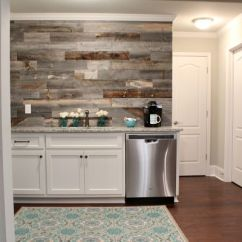 Kitchen Walls Calphalon Essentials Stainless Steel Diy This Beautiful Barn Wood Wall Refresh Restyle