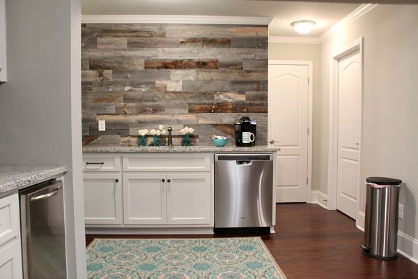 kitchen walls portable kitchens diy this beautiful barn wood wall refresh restyle