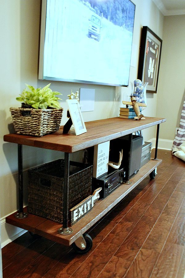 farmhouse sofa table plans corbusier sofas how to build an industrial console | refresh restyle