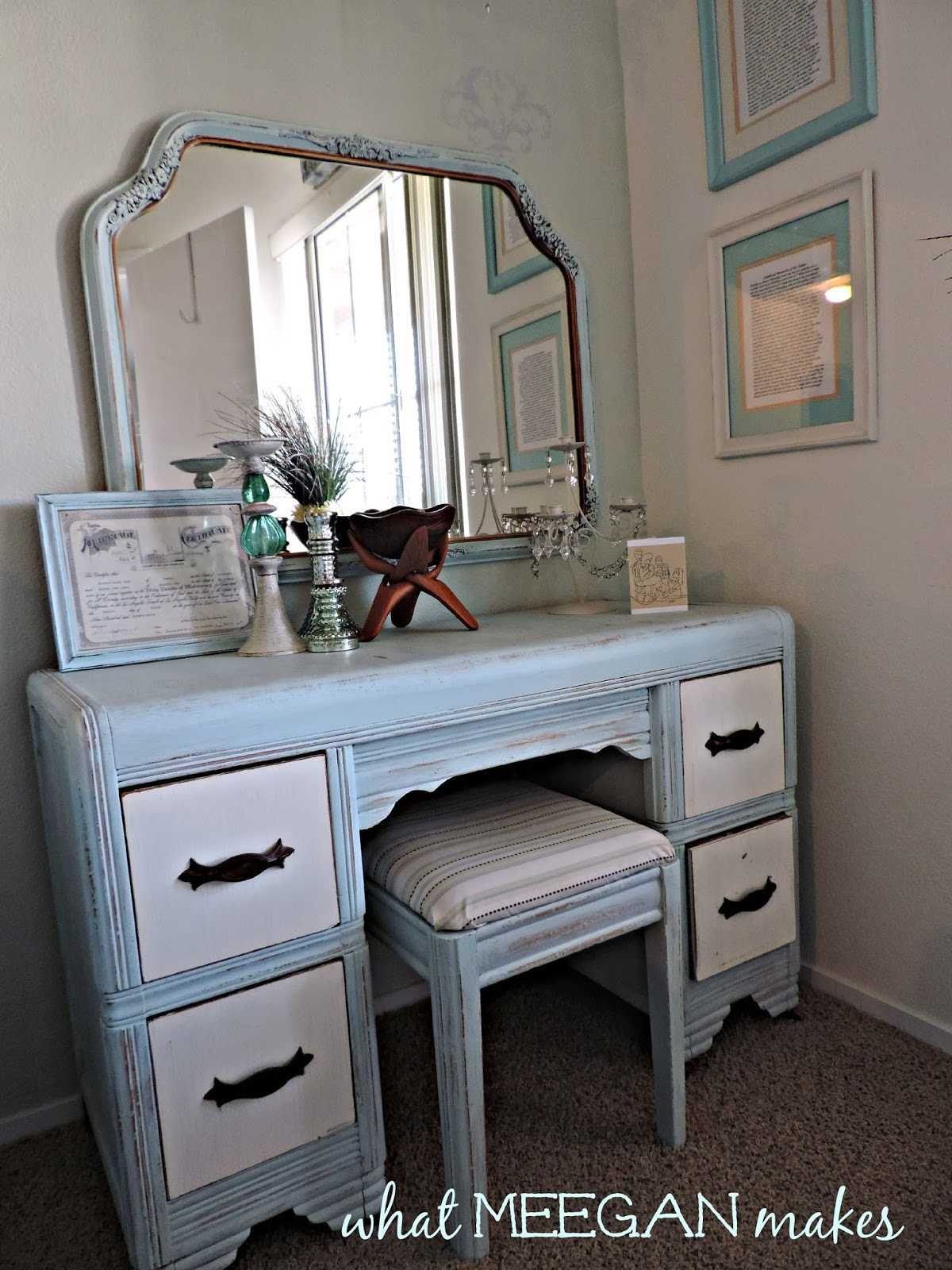 kitchen bakers rack open commercial design 30 painted furniture ideas in blue + more | refresh restyle