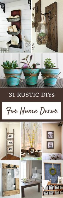 DIY Rustic Home Decor Ideas Pinterest