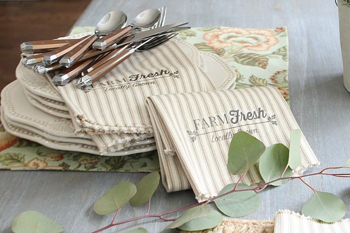 Farmhouse Farm Fresh Napkins DIY  Refresh Restyle